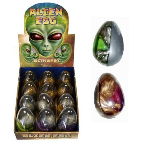 GIANT Hatching ALIEN Gel Bouncing Putty EGG - Bouncy & Stretchy Mixed Colours